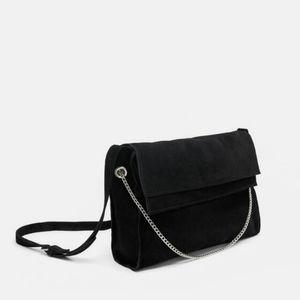 Zara Messenger Suede Bag